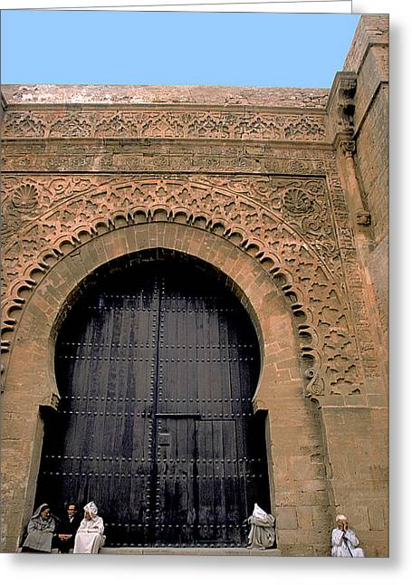 Rabat Greeting Cards - Big Door in Rabat Greeting Card by Carl Purcell