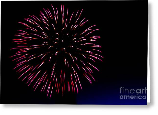 Purple Fireworks Greeting Cards - Big Red Greeting Card by Robert Bales