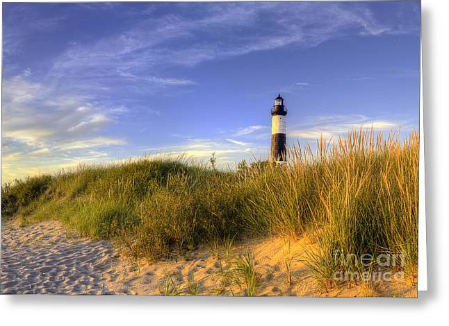 Ludington State Park Greeting Cards - Big Sable Lighthouse Greeting Card by Twenty Two North Photography