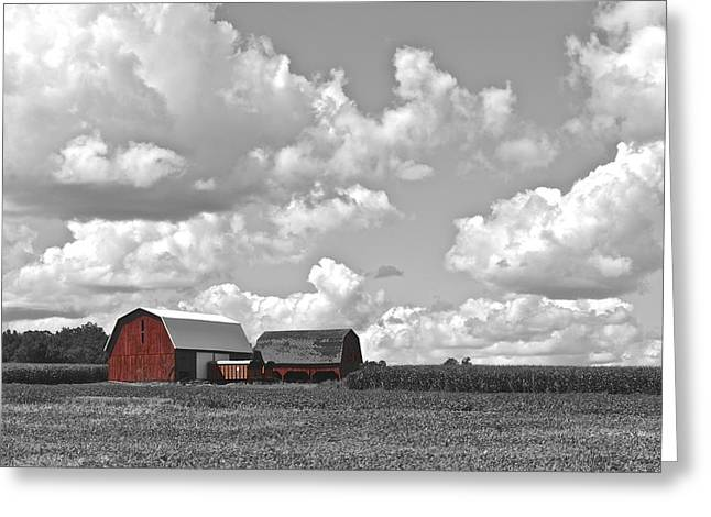Hay Bales Greeting Cards - Big Sky Greeting Card by Frozen in Time Fine Art Photography