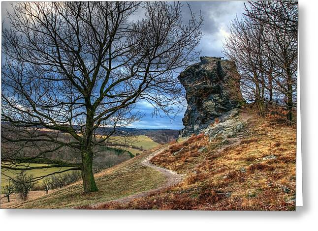 Himmel Greeting Cards - Big Stone Greeting Card by Steffen Gierok