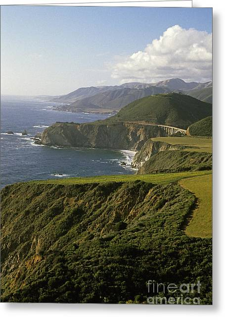 Famous Highway 1 In California Greeting Cards - Big Sur Highway 1 Greeting Card by Jim Corwin