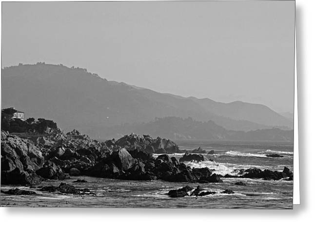 California Big Wave Surf Greeting Cards - Big Sur - Near Cypress Point II Greeting Card by Suzanne Gaff
