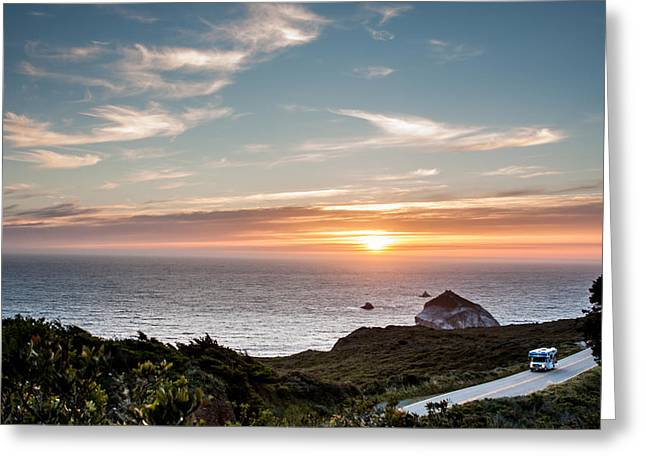 Big Sur Greeting Cards - Big Sur Sunset Greeting Card by Josh Whalen