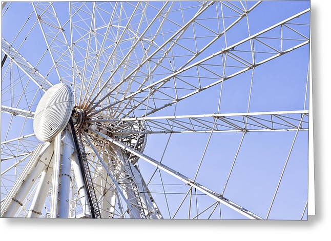 Rollercoaster Photographs Greeting Cards - Big wheel Greeting Card by Tom Gowanlock
