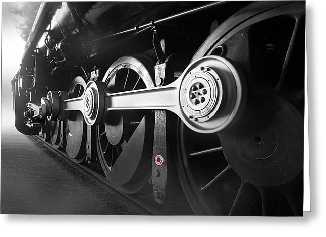 Train Tracks Greeting Cards - Big Wheels Greeting Card by Mike McGlothlen