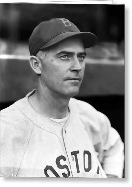 Boston Red Sox Greeting Cards - Bill Harris Greeting Card by Retro Images Archive