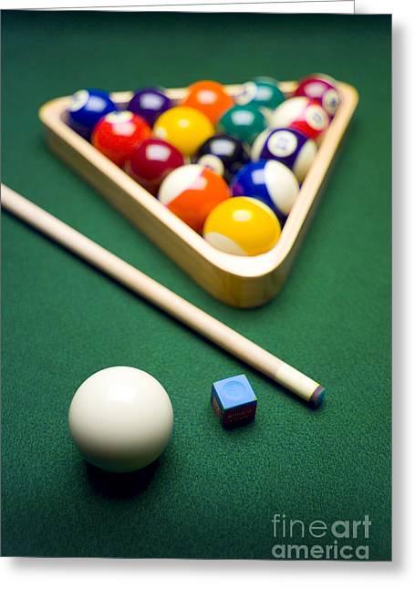 Billiards Greeting Cards - Billiards Greeting Card by Tony Cordoza
