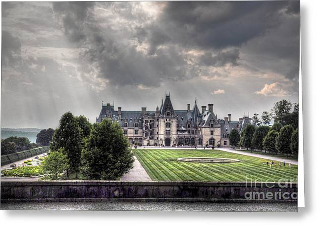 Nc Estate Greeting Cards - Biltmore Estate Greeting Card by Savannah Gibbs