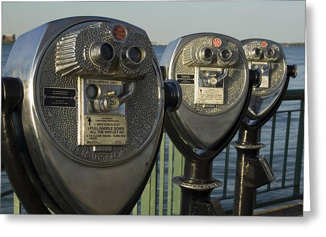 Recently Sold -  - Renaissance Center Greeting Cards - Binoculars Greeting Card by Gary Marx