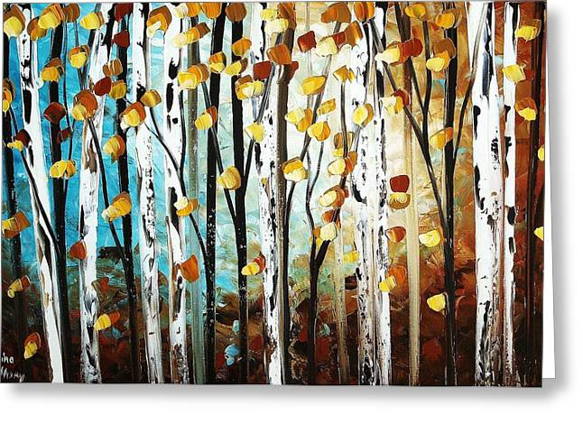 Jolina Anthony Greeting Cards - Birch garden  Greeting Card by Jolina Anthony