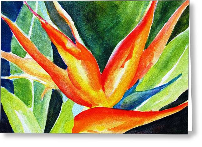 Recently Sold -  - Flower Design Greeting Cards - Bird of Paradise  Greeting Card by Carlin Blahnik