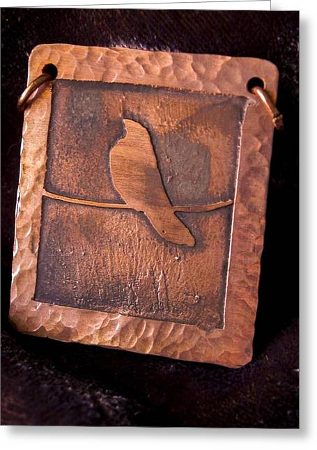 Wire Jewelry Greeting Cards - Bird on a Wire Greeting Card by Patricia  Tierney