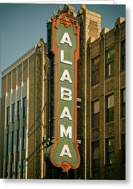 Alabama Greeting Cards - Birminghams Alabama Theatre Greeting Card by Mountain Dreams