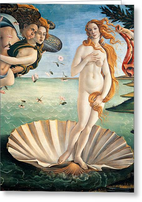 Dressing Greeting Cards - Birth of Venus Greeting Card by Sandro Botticelli