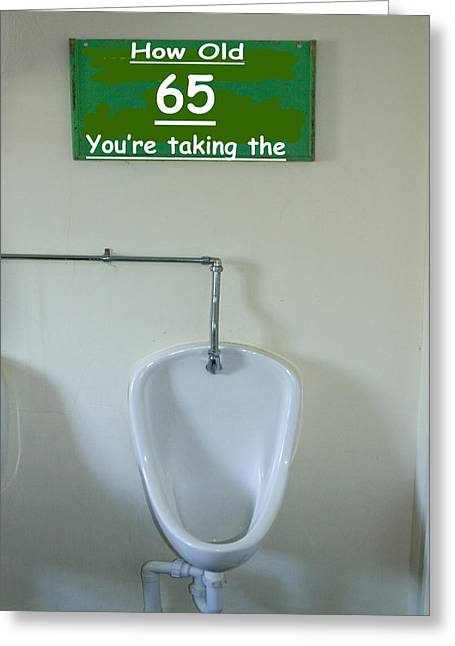 Urinal Greeting Cards - Birthday Cards Greeting Card by David French