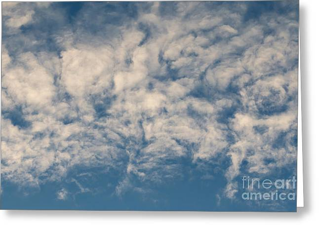 Fanciful Greeting Cards - Bizarre Clouds Greeting Card by Michal Boubin