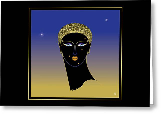 Decorative Greeting Cards - Black Face Greeting Card by Gary Grayson