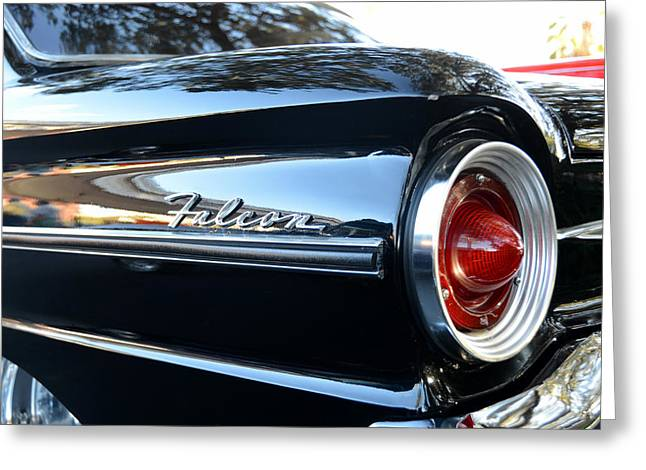 1963 Ford Greeting Cards - Black Falcon Greeting Card by David Lee Thompson