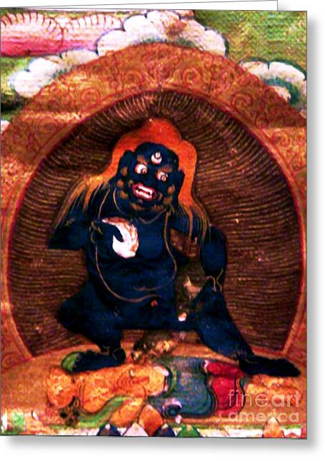Financial Difficulties Greeting Cards - Black Jambhala 3 Greeting Card by Lanjee Chee