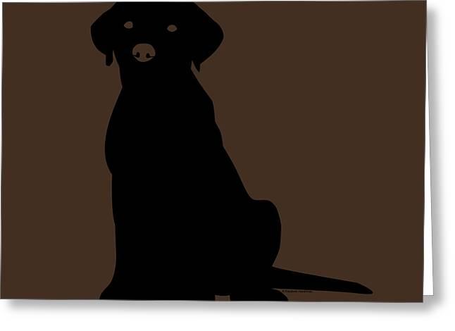 Black Labrador Greeting Card by Elizabeth Harshman