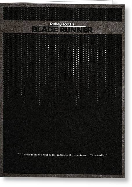 Blade Runner Greeting Card by Ayse Deniz