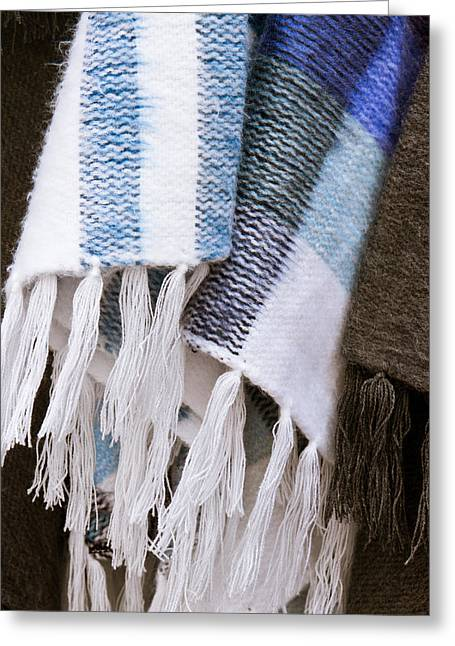 Fringed Greeting Cards - Blanket Greeting Card by Tom Gowanlock