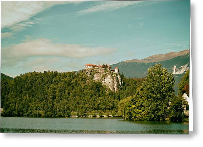 Bled Greeting Cards - Bled Castle on a Mountaintop - Slovenia Greeting Card by Mountain Dreams