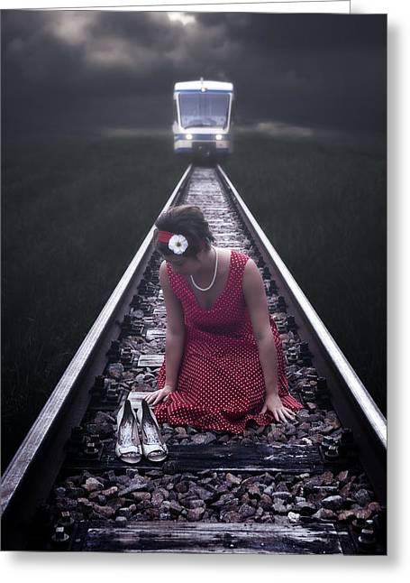Desperate Greeting Cards - Bleeding Love Greeting Card by Joana Kruse