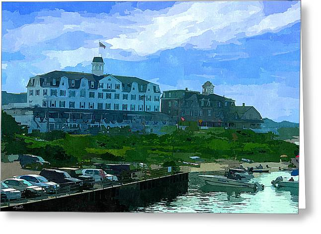 Yacht Basin Greeting Cards - Block Island Greeting Card by Lourry Legarde