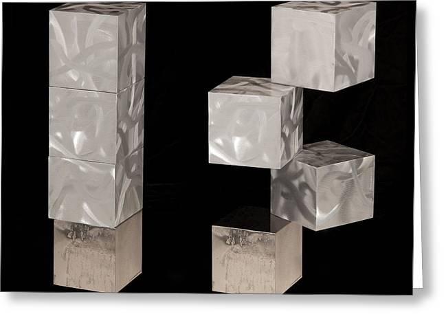 Table Sculptures Greeting Cards - Blocks III Greeting Card by Rick Roth