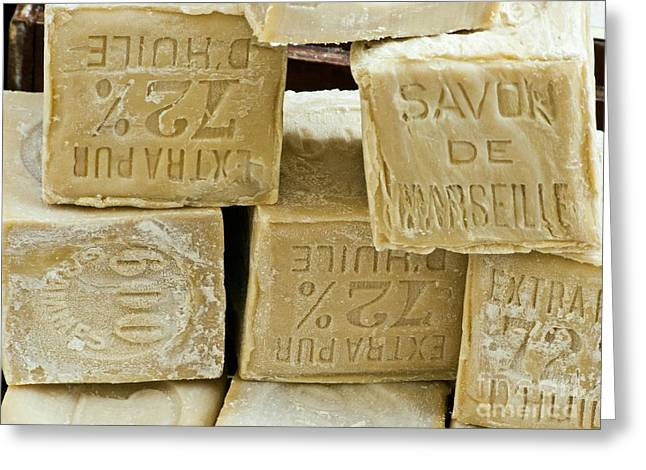 Blocks Of Soap Greeting Card by Martyn F. Chillmaid
