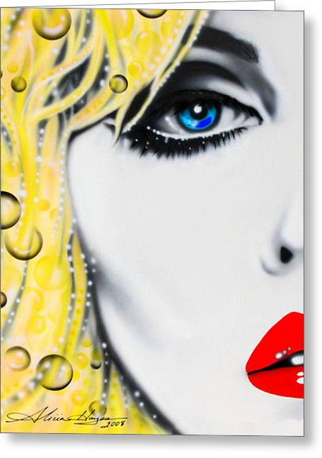 Singer Paintings Greeting Cards - Blondie Greeting Card by Alicia Hayes
