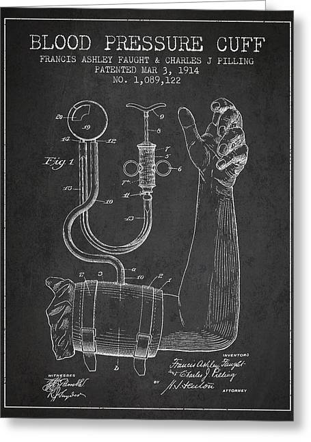 Medical Greeting Cards - Blood Pressure Cuff Patent from 1914 Greeting Card by Aged Pixel