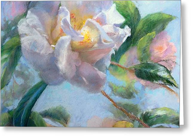 Blooming Flowers Greeting Card by Nancy Stutes