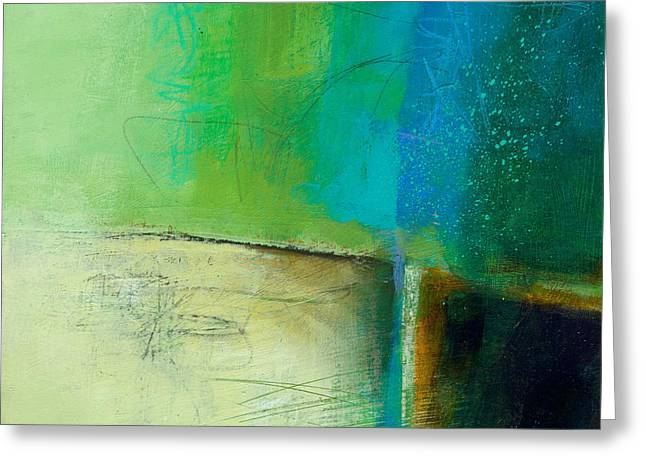 Abstract Collage Greeting Cards - Blue 2 Greeting Card by Jane Davies