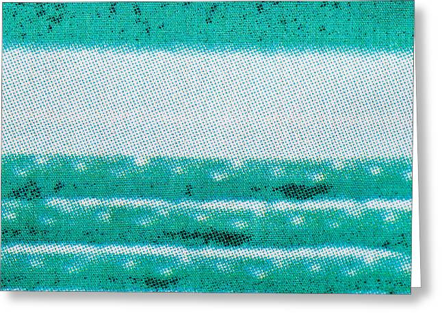 Abstract Style Greeting Cards - Blue and white cotton  Greeting Card by Tom Gowanlock