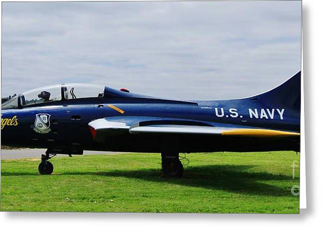 Airoplane Greeting Cards - Blue Angels Greeting Card by Terry Matysak