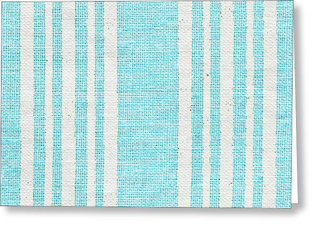Blue Fabric Greeting Card by Tom Gowanlock