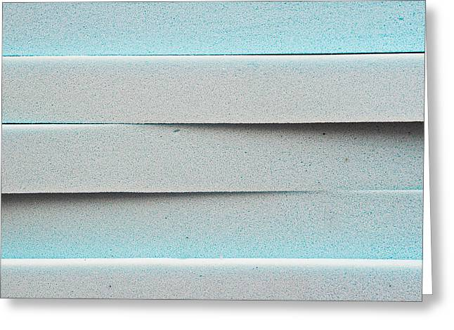Stack Greeting Cards - Blue foam Greeting Card by Tom Gowanlock
