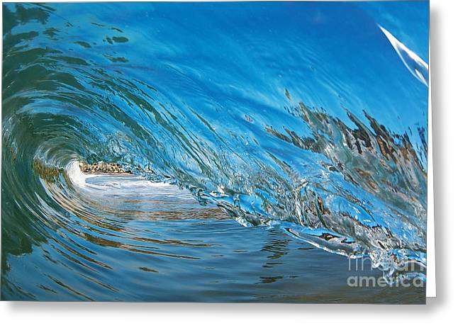 Best Sellers -  - Surfing Photos Greeting Cards - Blue Glass Greeting Card by Paul Topp