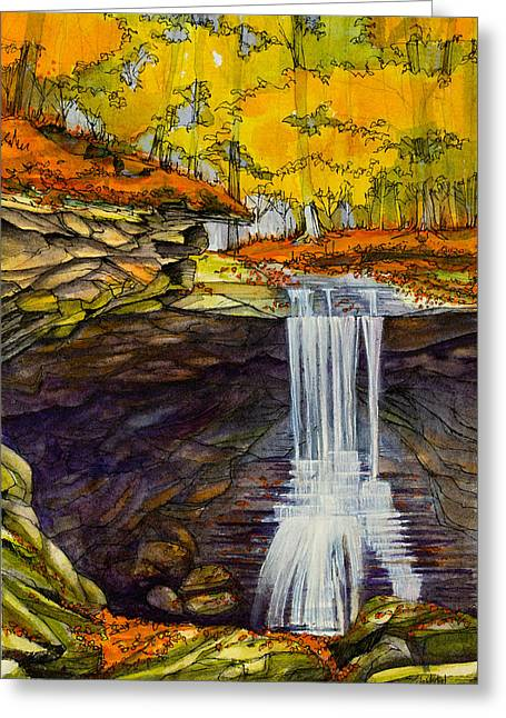 Recently Sold -  - Ledge Greeting Cards - Blue Hen Falls Greeting Card by Dave Whited