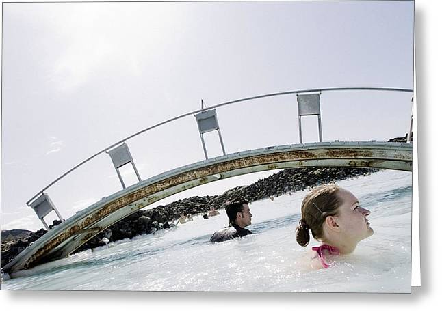 Natural Bridge Station Greeting Cards - Blue Lagoon geothermal spa, Iceland Greeting Card by Science Photo Library