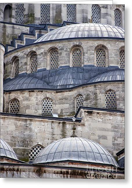 Ahmet Greeting Cards - Blue Mosque 01 Greeting Card by Antony McAulay