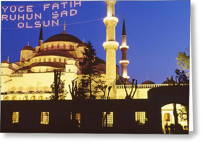 Istanbul Greeting Cards - Blue Mosque, Istanbul, Turkey Greeting Card by Panoramic Images