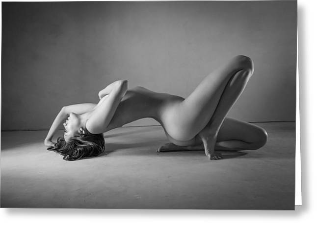 Tasteful Photographs Greeting Cards - Blue Nude Greeting Card by Blue Muse Fine Art