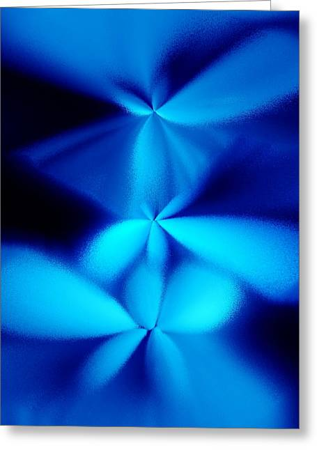 Abstract Digital Pastels Greeting Cards - Blue pastels Greeting Card by Francis Couchi Dit Diodore