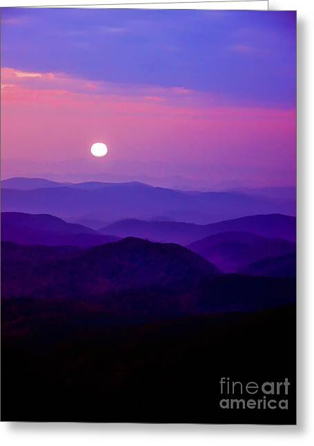 Parkway Digital Greeting Cards - Blue Ridge Sunrise Greeting Card by Thomas R Fletcher