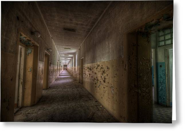 Sanitarium Greeting Cards - Blue room  Greeting Card by Nathan Wright