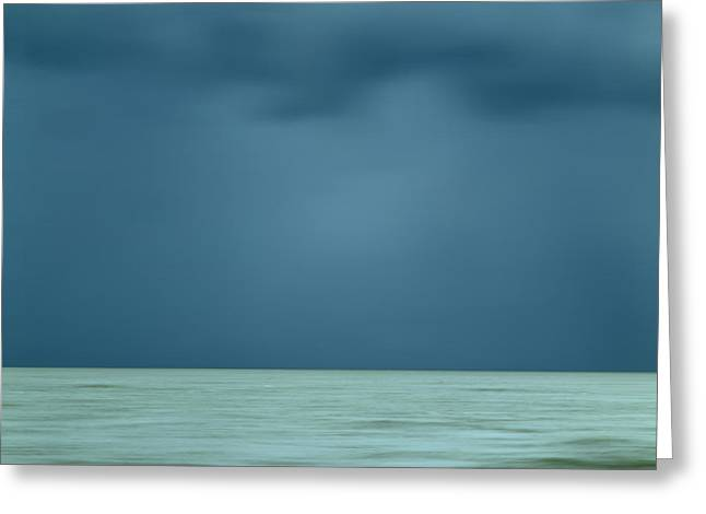 Outlook Greeting Cards - Blue sea Greeting Card by Bernard Jaubert